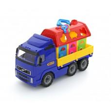 """""""Volvo"""", автомобиль бортовой + домик для зверей (в сеточке)"""