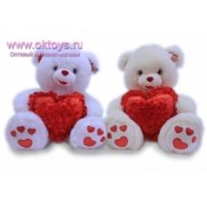 Медведь с сердцем в цветах  муз.-2цв.(30/1)