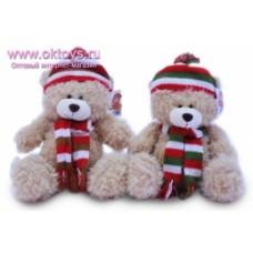 Медведь в шапке и шарфе муз.-2цв.(60/6)