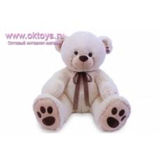 Медведь белый с бантом муз-1цв.(36/1)