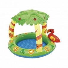 """BW Детский бассейн с навесом от солнца """"Джунгли"""", 99х91х71 см, 26 л"""