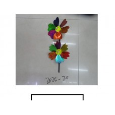 Ветряк детский 2 цветка, пластмасс, пакет