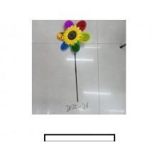 """Ветряк детский """"Подсолнух"""" 1 цветок, пластмасс, пакет"""