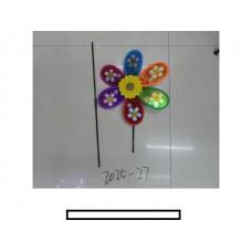 Ветряк детский 1 цветок с рисунком, пластмасс, пакет
