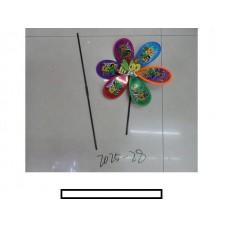 """Ветряк детский """"Пчелка"""" 1 цветок с рисунком, пластмасс, пакет"""