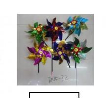 Ветряк детский 1 цветок «Радуга», пластмасс, пакет
