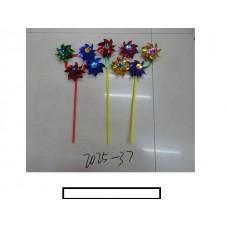 Ветряк детский 3 цветка, пластмасс, пакет