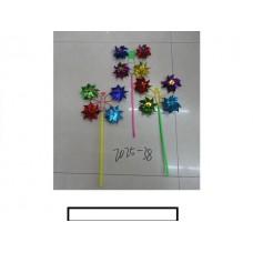 """Ветряк детский """"Бабочка"""" 4 цветка, пластмасс, пакет"""