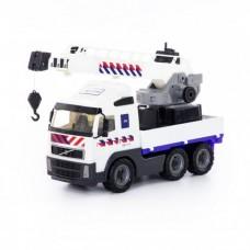 """""""Volvo"""", автомобиль-кран с поворотной платформой полицейский (NL) (в сеточке)"""