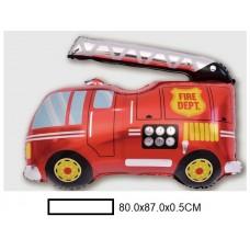 Воздушный шар фольг. Пожарная машина, в ассорт., пакет 50шт