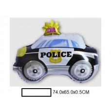 Воздушный шар фольг. Полицейская машина, в ассорт., пакет 50шт