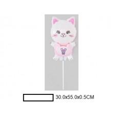 Воздушный шар фольг. Кошка, в ассорт., пакет 20шт