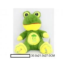 Игр.мягк. Лягушка, в ассорт., пакет 30х21х27 см